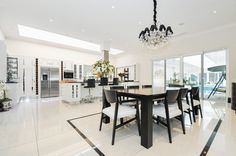 Modern and spacious open plan kitchen/diner - www.photoplan.co.uk