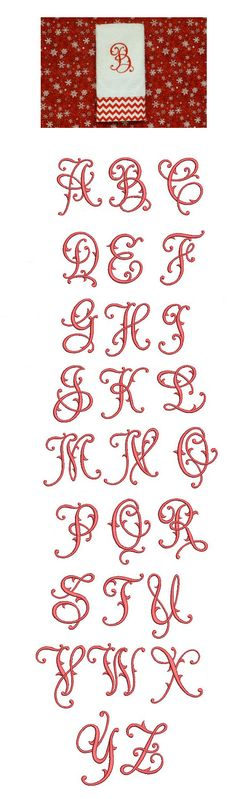 Flourish Fancy Monogram Alphabet is available for Instant Download at designsbyjuju.com