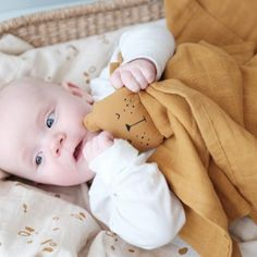 Organic Cotton Baby Comforter Bear by Little Baby Company, the perfect gift for Explore more unique gifts in our curated marketplace. Baby Toys, Baby Comforter, Security Blanket, Newborn Gifts, Baby Essentials, Baby Decor, Our Baby, Little Babies, Cuddling