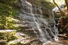 Jackson Falls, off Natchez Trace Parkway, Spring '06, southwest of Nashville, between Centreville and Columbia .