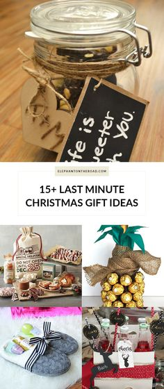 15+ Last Minute Christmas Gift Ideas. Blogmas. Elephant on the Road.