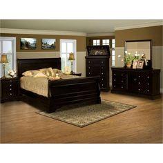 Belle Rose Full Bed in Black Cherry   Nebraska Furniture Mart