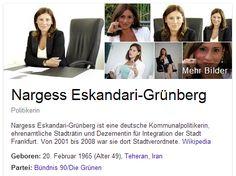Wer immer das liest muss es weiter in die Welt tragen: Die (Grüne) Frau Dr. Nargess Eskandari-Grünberg rief den deutschen Bürgern die gegen den Moscheebau sind zu: ›Wenn es ihnen nicht passt, DANN WANDERN SIE AUS!‹ Das muss in die Welt hinaus. Das ist das skandalöseste, was ich jemals von einer Vertreterin des ›Volkes‹ gehört habe!«