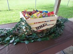 Centerpiece for army/camouflage themed birthday party - Real Time - Diet, Exercise, Fitness, Finance You for Healthy articles ideas Camouflage Birthday Party, Army Birthday Parties, Army's Birthday, Camo Party, Birthday Party Themes, Birthday Ideas, Paintball Party, Nerf Party, Paintball Birthday
