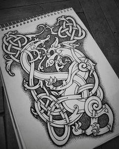 I'm The Heathen - Viking Viking Tattoo Sleeve, Norse Tattoo, Celtic Tattoos, Viking Tattoos, Viking Symbols, Viking Art, Viking Runes, Celtic Tribal, Celtic Art