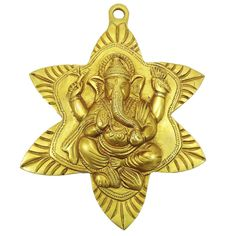 Indian Lord #Ganesha Wall Hanging Brass Statue , US $30.15
