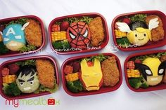 Marvel Superheroes Bento | Community Post: 25 Adorable Bento Boxes You Wish Your Mom Made