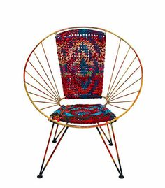 Chindi chair, Domayne. Woven with rope made from fabric offcuts.