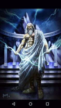 Zeus (Jupiter) - Greek God - King of the Gods and men. Zeus was the top god of the pantheon of the Olympians and the supreme god of the ancient Greeks. Greek Mythology Tattoos, Greek And Roman Mythology, Greek Gods And Goddesses, Zeus Greek, Zeus Jupiter, Zeus Tattoo, Zeus And Hera, Roman Gods, Mystique