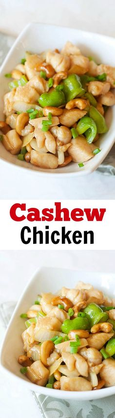 Crazy delicious and super easy cashew chicken recipe. Follow my recipe and make the MOST amazing, tender, silky smooth cashew chicken that is better than takeouts | rasamalaysia.com