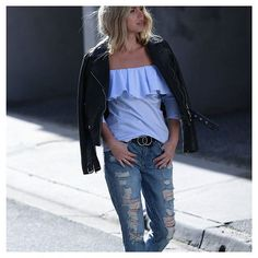 4687369416ab We can t get enough of distressed denim 🙌✓ paired perfectly with the