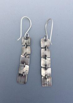 Sterling Silver Elegant Earrings Long Earrings