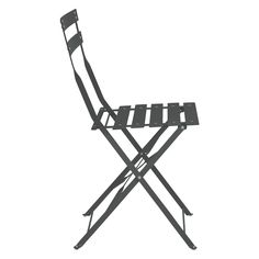 PARC Black folding metal garden chair £22
