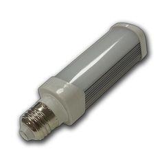 Bombilla LED PL 6w Plafon Casquillo E27 Lampara Epistar SMD5050 Luz Fria 6000ºK