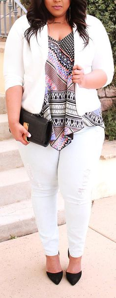 Chic Plus Sized Style Ideas for Women - #curvy #plussize #outfits #fashion