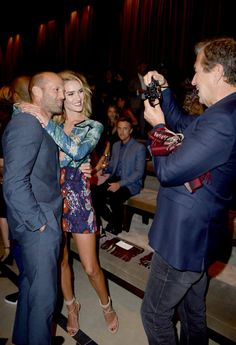 Pin for Later: London Came to LA Last Night Courtesy of Burberry Jason Statham, Rosie Huntington-Whiteley, and Mario Testino