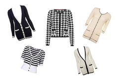 Coco Chanel-inspired cardigans