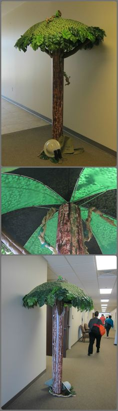 Tree made out of an umbrella.  On display at Lifeway's Preview Event in Fort Worth, TX. Image Only Journey off the Map VBS 2015.