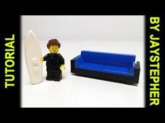 Tutorial - Lego Modern Blue Sofa - YouTube