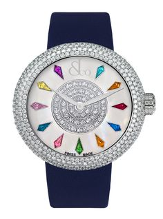 Jacob & Co.'s Brilliant Collection with a Stainless Steel Case and Full Pavé Round Diamonds Trendy Watches, Cute Watches, Amazing Watches, Beautiful Watches, Ladies Watches, Women's Watches, Wrist Watches, Patek Philippe, Devon