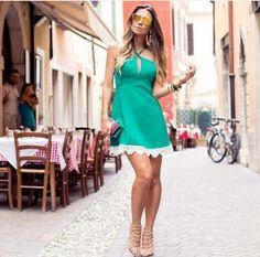 Vestido - Verde - Dress - Green