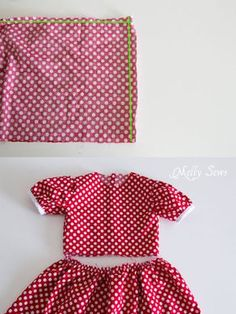 Step 8 - Fiesta Frock dress for girls with free pattern - Melly Sews