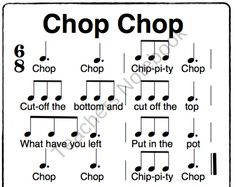 Chop Chop Chippity Chop product from Solo-Time-Music-Games on TeachersNotebook.com