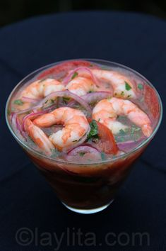 Shrimp ceviche. My bf's mom who's Ecuadorian used to make this-refreshing & so tasty. :)