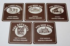 Coasters Lot Of 5 The Special Pub Signs Coaster Collection Collectables Norfolk England, Oxford England, Pub Signs, Beer Coasters, Barware, Store, Ebay, Bar Accessories, Storage