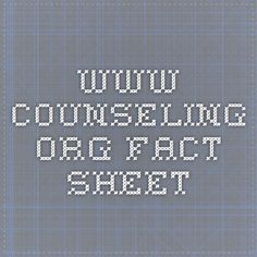 www.counseling.org fact sheet