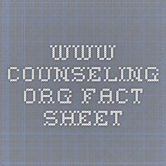 www.counseling.org fact sheet
