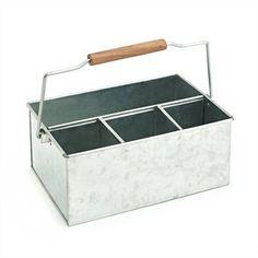 Galvanized Cutlery Caddy - possible herb planter instead? #indigo #perfectsummer
