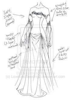 MHcd - Across the Univers von auf DeviantArt - Altmodische Dress Drawing, Drawing Clothes, Dress Sketches, Fashion Sketches, Arte Fashion, Fashion Design, Illustration Mode, Illustrations, Poses References