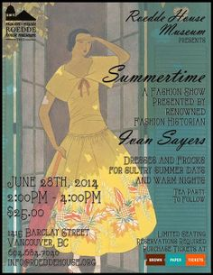 Living Vancouver Canada: Roedde House Museum presents Summertime a Fashion ...