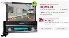 """Media Player Automotivo Yep! Aquarius MPA 2004 Tela 7.0"""" Retrátil com tela TFT e Câmera de Ré << R$ 17739 em 4 vezes >>"""
