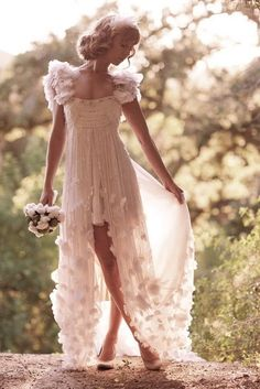 delicate wedding gown