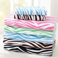 These are soo sweet! I love zebra print things! That would be so cool if these came color I needed to match my room