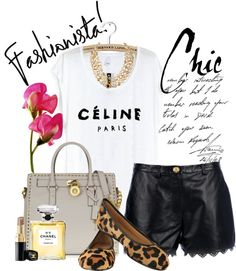 """Must-have of the season - Celine T-shirt"" by im-a-batman ❤ liked on Polyvore"