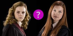 A quiz that will determine which of the strongest female characters in Harry Potter you are: Hermione or Ginny?