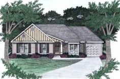 House Plan 129-140 Note master bedroom layout