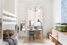 kids room inside of scandinavian aprment,