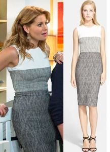 Fuller House episode 5: DJ's (Candace Cameron Bure) grey color block sleeveless sheath dress  #fullerhouse #djfuller #candacecameronbure