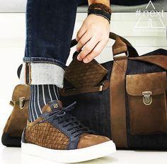 #Repost @next_andy_next ・・・ Kjøre Project  Travel Bag • Leather & Denim blue Shoes • Fær Øer Eva Braided Wallet • Slim Fold Braided Bracelets • Twine cut @kjoreproject  #kjøre #project #kjøreproject #evolutionofgoods #handmade #madeinitaly #backpack #natural #tanned #oil #design #nordic #italian #style #next #andynext #viamazzini37 #crema #VisitCrema #NegoziCrema