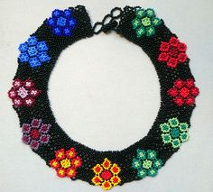 Crochet Necklace, Beaded Necklace, New Instagram, Boho Fashion, Collars, Diy Crafts, Beads, Pattern, Inspire