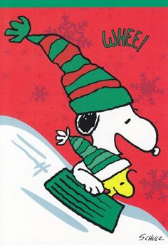 Snoopy and Woodstock having a little winter fun! Peanuts Christmas, Charlie Brown Christmas, Charlie Brown And Snoopy, Xmas, Winter Christmas, Peanuts Cartoon, Peanuts Snoopy, Peanuts Characters, Cartoon Characters