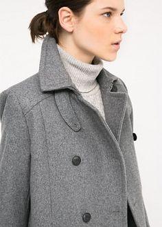 Wandelbarer Mantel aus Woll-Mix