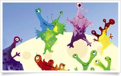 Monster craft for kids: blow monsters
