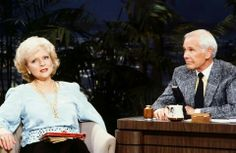 Betty White and Johnny Carson