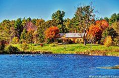 An autumn scene in  Rollinsford New Hampshire