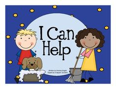 """This ELL eBook, """"I Can Help,"""" was created for English Language Learners. The simple text and illustrations contain key vocabulary, common English . Teacher Books, Class Books, Reading Activities, Reading Skills, English Language Learners, Language Arts, Primary Classroom, Classroom Ideas, Emergent Readers"""